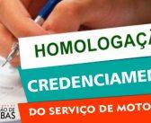 Edital de Homologação, Credenciamento do Serviço de Moto Taxi
